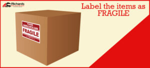 Label the items as FRAGILE