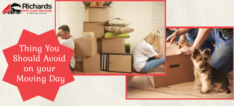 Things not to do on moving days