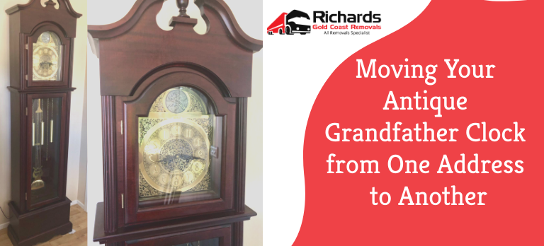 Moving Antique Clock