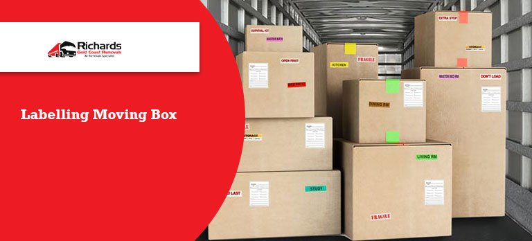 Labelling Moving box