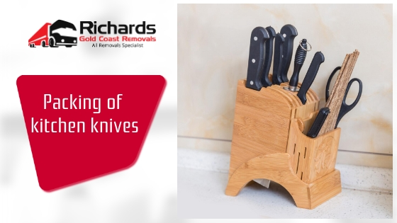 Packing of kitchen knives
